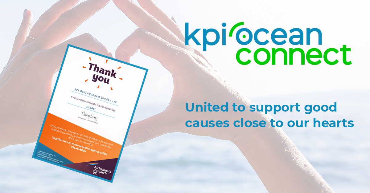 KPI OceanConnect supports important charities in 2020